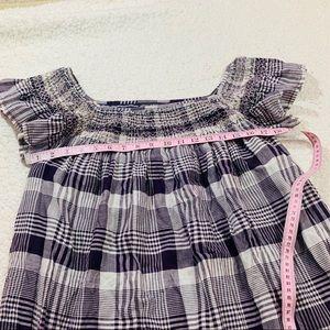 Antik Batik Dresses - Antik batik purple plaid embroidered dress l 42
